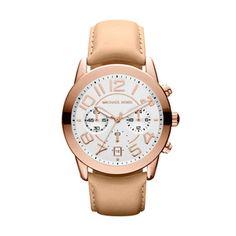 Michael Kors MK2283 Mercer Chronograaf horloge 41.5mm - 10 ATM - Rose Gouden kast - Stopwatch - Datum