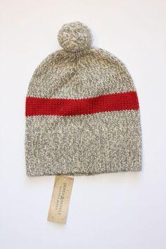 43fbc4acfa5 (Wool Striped Ragg Beanie Hat in ONE Size in Grey. Wool Beanie )Essentials