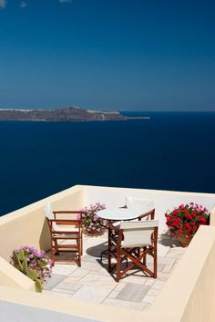 What a view in Santorini, Greece