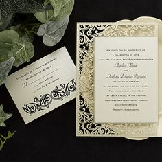 Fancy Detail Invitation. From alfred angelo