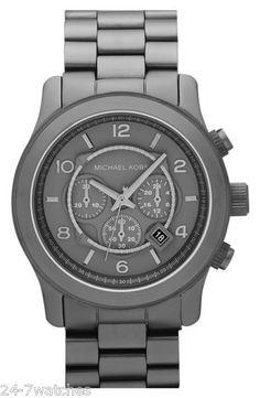 NEW Michael Kors Matte Gunmetal Grey Watch-Need This