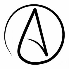 atheist symbol for tattoo Could it be an agnostic symbol too? Hahaha