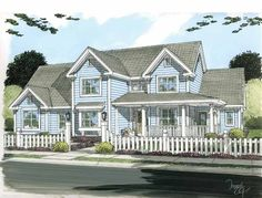 Country House Plan with 2578 Square Feet and 4 Bedrooms(s) from Dream Home Source | House Plan Code DHSW75202
