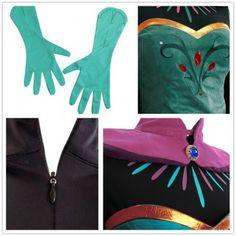 Disney Movie Frozen Elsa Coronation Dress Costumes