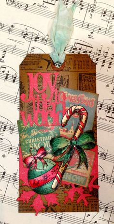TimHoltz Holiday Die-cuts, stamps and papers!  Click through for more holiday creations using this festive collection.