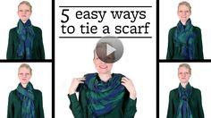 Watch 5 Easy Ways to Tie a #Scarf in the #BetterHomesandGardens Video. #ChixThatStitch #DIY #Fashion