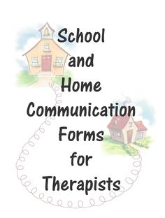 School and Home Communication Forms-Daily Reports Improve Productivity and Behavior of Students. From Your Therapy Source. Pinned by SOS Inc. Resources @Christina & Porter Inc. Resources.