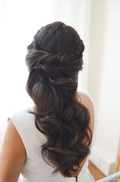 elegant bridal hair, best wedding hair, brunette hairstyles, half up wedding hairstyles, alicia fashionista, best beauty blog