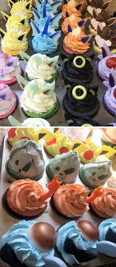 Pokémon cupcake bath bomb