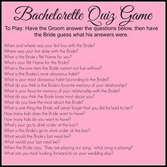 Bachelorette Quiz