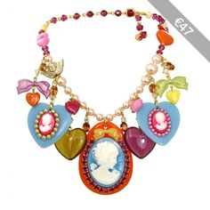 """Classic """"Candy Cameo"""" Charm Necklace"""