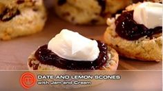 Date and Lemon Scones