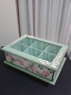 Rice Paper Decoupage, Decoupage Box, Wooden Projects, Craft Projects, Jewelry Box Makeover, Decoupage Tutorial, Tea Box, Wood Creations, Keepsake Boxes