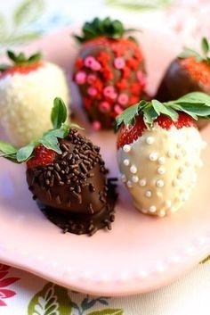 Клубника в шоколаде и не только #creativefood