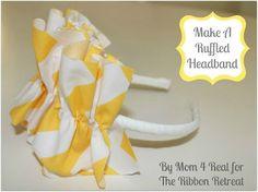 Ruffled Headband Tutorial - {The Ribbon Retreat Blog}