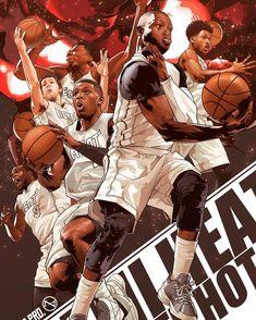 Miami Heat Playoff Squad Illustration