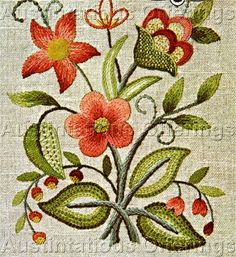 Williams Beginner Crewel Embroidery Sampler Kit Lowell Floral