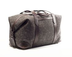Cherchbi Herdwyck, British made Herdwick tweed bags, leathergoods, handmade leather belts and accessories for men and women. - Squires Holdall, Collection One