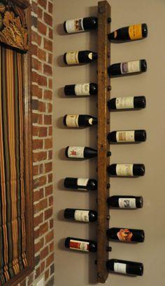 Tuscan Wine Rack 16 Bottle Ladder by VetrinaDelVino on Etsy Wine Rack Wall, Wood Wine Racks, Wooden Wine Holder, Wine Bottle Display, Dining Room Wall Decor, Diy Wall Decor, Wine Decor, Wood Home Decor, Wine Storage