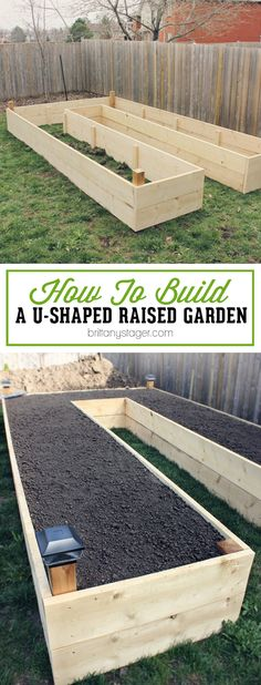How to Build A U-Shaped Raised Garden Bed-Spring is the perfect time to get your brand new garden in order. Building a U-Shaped Raised Garden Bed offers many advantages including easy of access, scale Suculentas Diy, Garden Bed Layout, Raised Vegetable Gardens, Vegetable Gardening, Organic Gardening, Container Gardening, Raised Bed Gardens, Vegetable Planters, Vegetable Bed