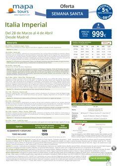 Italia Imperial Semana Santa desde Madrid**Precio final desde 999** ultimo minuto - http://zocotours.com/italia-imperial-semana-santa-desde-madridprecio-final-desde-999-ultimo-minuto-3/