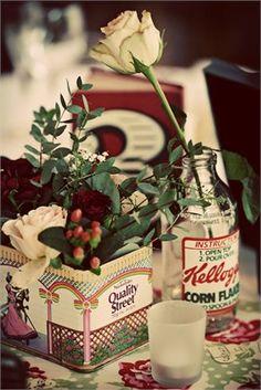 Vintage tins #vintage #wedding