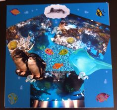 New England Aquarium scrapbook page. Made by me. Love the aquarium!!! This page features the 4 story coral reef system they have there.