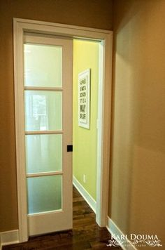 Obscure glass pocket doors