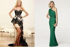 Dos vestidos de fiestas espectaculares y muy femeninos