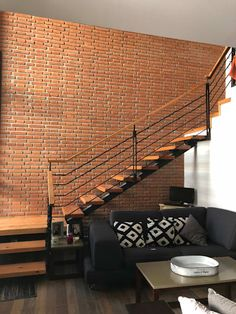 Fiverr freelancer will provide Architecture & Interior Design services and architectural site floor views including Source File within 7 days Stair Railing Design, Home Stairs Design, Interior Stairs, Dream Home Design, Modern Brick House, Modern House Design, Brick Architecture, Interior Architecture, Village House Design