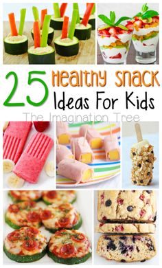 25 healthy snacks for kids to make and eat!