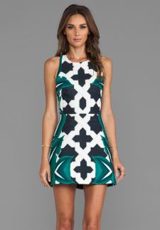 Cameo Feel It All Dress in Moroccan Leaf from REVOLVEclothing.com