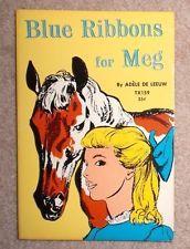 BLUE RIBBONS FOR MEG by Adele de Leeuw, Charles Beck, SBS 1964, Vintage