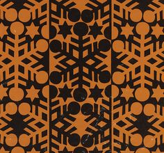 Vintage Wrapping Paper - Christmas Snowflakes