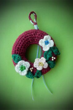 crochet christmas stuffed wreath amigurumi christmas tree ornament house decoration by WiseFriday on Etsy