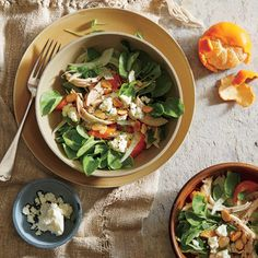 31 Chicken Salads, shown, Fennel and Clementine Salad with Chicken, Almonds, and Feta