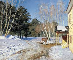 Isaak Levitan - March. 900 Classic russian paintings. Download painting.