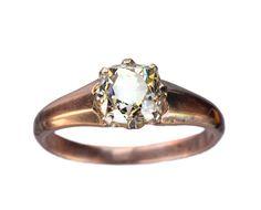 1890s Victorian 1.19ct Old Mine Cut Diamond Ring