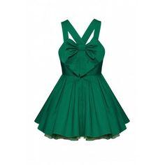 Vestido verde con moño