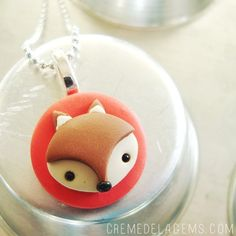 Image of Fox Face Charm Necklace- official gift of the 2012 Kids Choice Awards