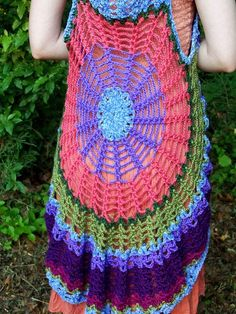 Mandala Spider Web Vest / Dress yarn and color by elorascastle, $119.00