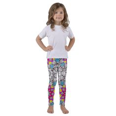 These soft polyester/spandex kids leggings are just perfect for active kiddos. Polyester Spandex, Kids Fashion, Mandala, Pajama Pants, Leggings, Color, Shopping, Sleep Pants, Colour