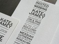 Modern, simply elegant. #letterpress
