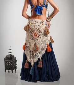 Tribal Belly Dance Belt Tribal Hip Scarf Belly by DancingTribe, $235.00