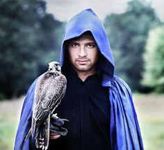 #IuliiaMalivanchuk Photograph - a #man with a #falcon by Iuliia Malivanchuk by Iuliia Malivanchuk