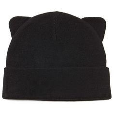 Forever 21 Cat Ears Beanie (44 VEF) ❤ liked on Polyvore featuring accessories, hats, forever 21 beanie, cat ear beanie, forever 21, forever 21 hats and cat ear hat