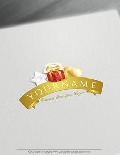 Free happy birthday Logo Maker – Balloons and Gifts Logo Templates