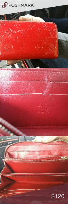 Louis Vuitton wallet Slightly used Louis Vuitton wallet red luios vuitton Bags Wallets