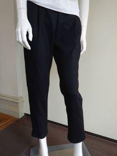 Max Mara Black Wool Blend Trousers Size EU40/UK12