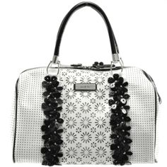 Nicole Lee Flora Handbag, Color: White, $78.00 at Bakers Shoes  I so want this.